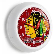 Chicago Blackhawks Hockey Team Logo Wall Clock Man Cave Boys Tv Room Art Decor - $23.39