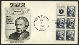 #1280a 2c Frank Lloyd Wright-Mail Early, Fleetwood FDC **ANY 4=FREE SHIP... - $2.50
