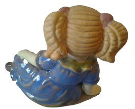Ceramic blonde girl figurine image 2