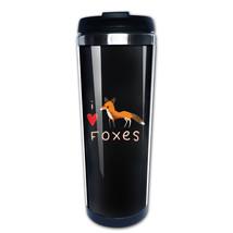 fox love coffee mug picture insert tazas stainless steel - $37.95