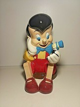 Retired Disney Pinocchio & Jiminy Cricket Cookie Jar by Treasure Craft - $100.00