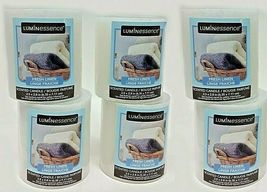 Lot (6) Luminessence Fresh Linen Scented Pillar Candles 2.5 In. X 2.8 In... - $24.52