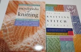 2 KNITTING BOOKS Stitch Library & Kooler's Encyclopedia of, Patterns Projects - $15.43