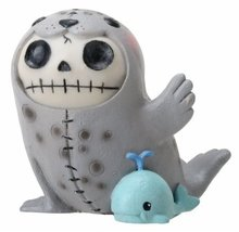 Sitting Furrybones Rollie Seal Skull Face in Full Costume with Hood - $19.99