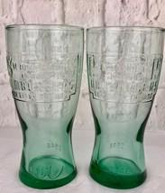 McDonalds Logo Green 1948 Vintage Glassware Set Of 2 Collectibles - $7.70