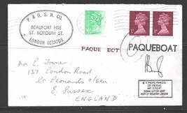 1979 Paquebot Cover British stamps used in Los Angeles, California (Oct 24) - $5.00