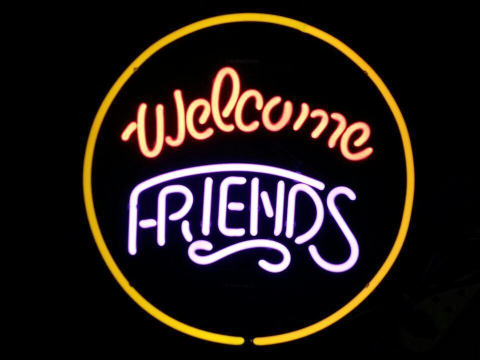 "New Welcome Friends Party Time Beer Neon Light Sign 24""x20"""