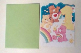 American Greetings Care Bears Happy Birthday Card One Year Old - $2.94