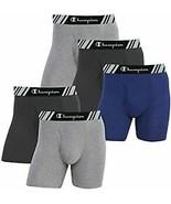 Champion Men's Boxer Briefs Double Dry X-Temp 5 Pack (Black - Navy - Grey, L) - $39.99