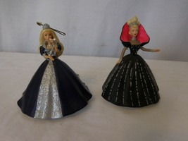 Hallmark Ornament 1999 Barbie Millenium Princess Holiday + 1998 Holiday ... - $17.84