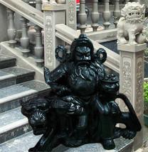Antique Chinese Black Stone Statue, Sculpture, Warrior Tiger RARE! MESME... - $19,990.00