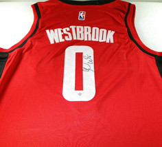 RUSSELL WESTBROOK / AUTOGRAPHED HOUSTON ROCKETS RED PRO STYLE JERSEY / COA