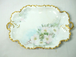 Antique R&C Rosenthal Monbijou Germany Platter Gold Scalloped Edge Handl... - $89.05
