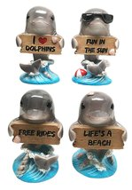 Gifts & Decors Ocean Marine Cool Gay Dolphins Holding Funny Signs Figuri... - $26.67