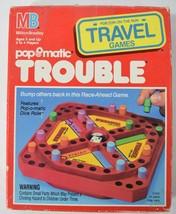 Vintage 1989 Milton Bradley Trouble Pop O Matic Travel Mini Game w/ Box & Rules - $17.81