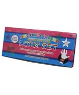 Loom Kit Deluxe Combo 50 S Clips & 1200 Colored Bands Rainbow Tie Dye Charm - $7.49