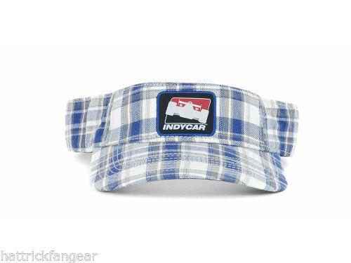 29a09a6d Indycar The Game IZOD Blue Plaid Sun Visor and 20 similar items