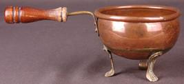 Vintage COPPER Cauldron Plant POT Kettle Brass Claw Feet-Made in Ireland - $23.36