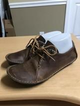 Clarks Originals Faraway Field Womens Brown Leather Moccasin Comfort 344... - $29.61