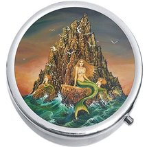 Mermaid Cliffs Medicine Vitamin Compact Pill Box - $9.78