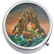 Mermaid Cliffs Medicine Vitamin Compact Pill Box - $9.78