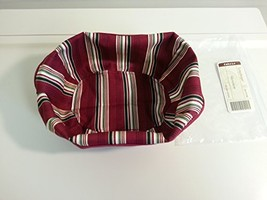 Longaberger Gumdrop Trimming Basket 2004 Holiday Stripe Fabric OE Liner ... - $9.85