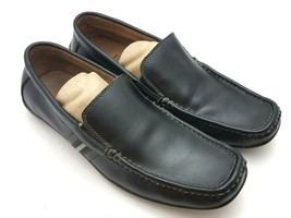 Bass Mens Driving Loafers Sz 7 M Conway Black Leather Slip-On Moccasins ... - $34.37