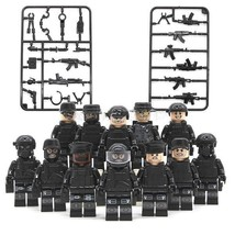 12pcs/set Military SWAT Teams Figure City Police with Weapon Lego Minifigures - $12.99