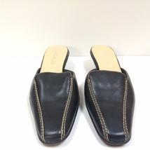 Black AEROSOLES Kitten Heel Mules Slides Slip Ons Size 7.5M  - $26.72