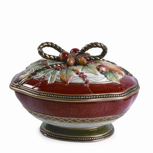 Fitz and Floyd Holiday Solstice Covered Vegetable Bowl - $173.24