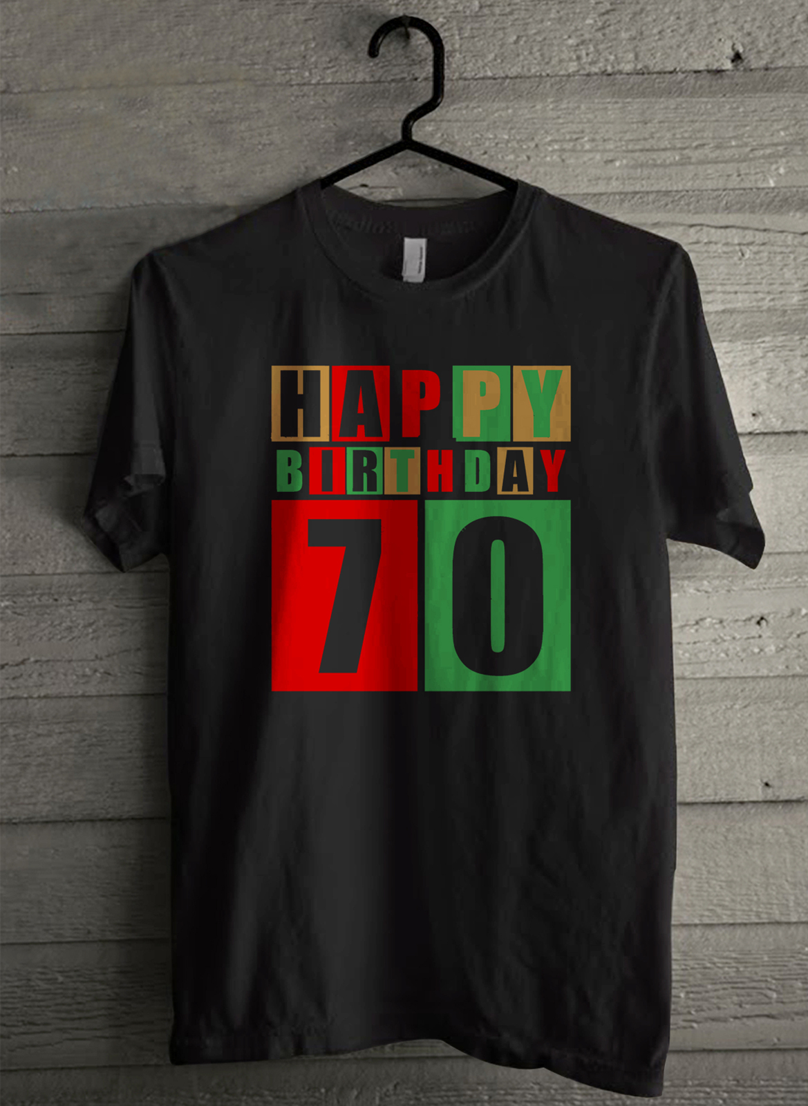 Primary image for Seventy And Fabulous Happy Birthday - Custom Men's T-Shirt (515)