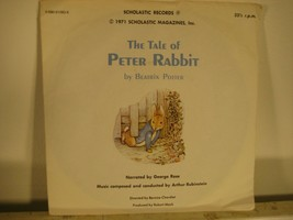 """The Tale of Peter Rabbit Beatrix Potter Scholastic Story Record 33 1/3 7"""" - $5.90"""