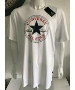 Converse Mens Chuck Patch Graphic Tee White T-Shirt 100% Cotton Size XXL... - $34.74