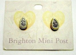 Brighton Massandra Mini Crystal Post Earrings Silver and Gold Plated - $20.90