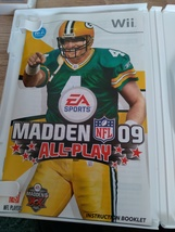 Nintendo Wii Madden NFL 09: All-Play ~ COMPLETE image 2
