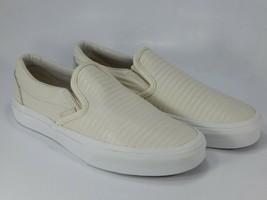 VANS Classique à Enfiler Sz 7 M EU 37 Femmes Moto Cuir Skate Shoes VN-0A... - $44.87