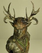 CERNUNNOS CELTIC POLYTHEISM HORNED GOD BUST Statue Sculpture Bronze Finish - $79.88