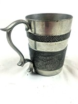Mullingar Pewter Mug Vintage Book of Kells Ireland - $44.06