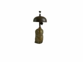 Vintage Hotel Motel Front Desk Solid Brass Owl Bellhop Service Clerk Bell image 3