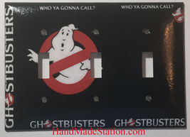Ghostbusters Who Ya Gonna Call Light Switch Outlet wall Cover Plate Home decor image 5