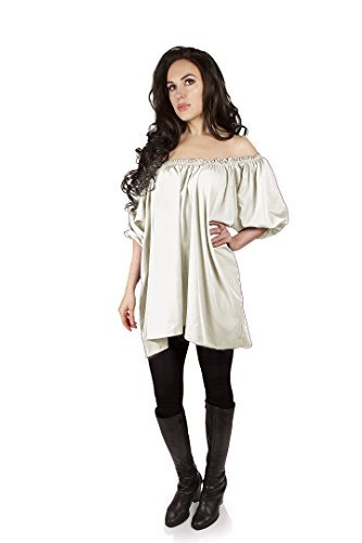 Isolde Blouse Pirate Wench Renaissance Medieval (Cream)