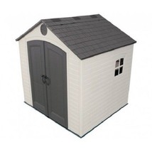 Lifetime 8x7.5 ft Plastic Outdoor Storage Shed Kit (6411) - $1,106.08
