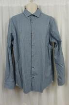 Michael Kors Mens Dress Shirt Sz XL Light Blue Checks Cotton Long Sleeve... - €52,94 EUR