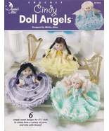 Cindy Doll Angels, Annie's Attic Doll Clothes Crochet Pattern Booklet 87... - $14.95