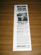 1964 Print Ad Johnson Sea-Horse 9 1/2 HP Outboard Motors Million Dollar - $10.87