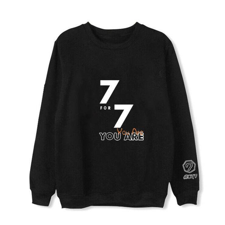 KPOP GOT7 Sweater 7FOR7 YOU ARE Hoodie Jackson JaeHyun Sweatershirt Chenle Coat
