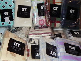 GT 2 Pack Flannel Pillowcases Standard 100% Cotton Assorted Colors & Pat... - $12.99