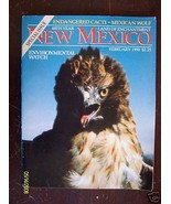 NEW MEXICO MAGAZINE 1990 FEBRUARY CAMINO REAL WOLF ENDANGERED CACTI HAWK... - $22.50
