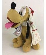 """Disney Store Buttons and Bows Pluto Dog 12"""" Plush Stuffed Toy Christmas ... - $29.65"""