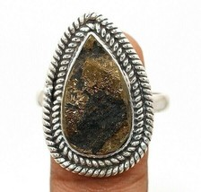 Natural Rough Pyrite Druzy 925 Sterling Silver Ring Jewelry Sz 9 EA24-3 - $29.69